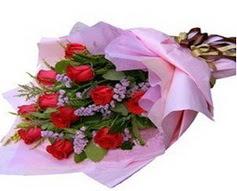 11 adet kirmizi güllerden görsel buket  Tunceli çiçek servisi , çiçekçi adresleri