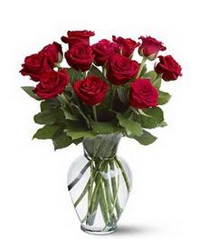 Tunceli çiçek servisi , çiçekçi adresleri  cam yada mika vazoda 10 kirmizi gül