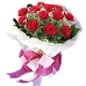 Tunceli yurtiçi ve yurtdışı çiçek siparişi  11 adet kırmızı güllerden buket modeli
