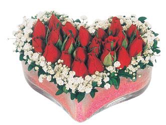 Tunceli güvenli kaliteli hızlı çiçek  mika kalpte kirmizi güller 9