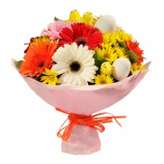 Karışık mevsim buketi Mevsimsel çiçek  Tunceli çiçek satışı