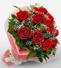 12 adet kırmızı güllerden kaliteli gül  Tunceli çiçek , çiçekçi , çiçekçilik