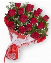 11 kırmızı gülden buket  Tunceli uluslararası çiçek gönderme