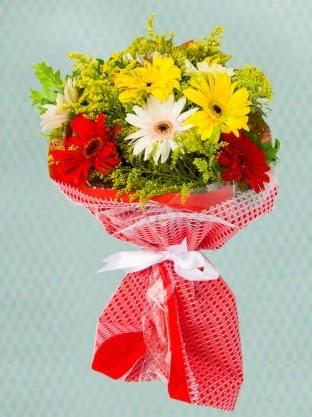 Karışık Gelbera Buketi  Tunceli çiçek yolla