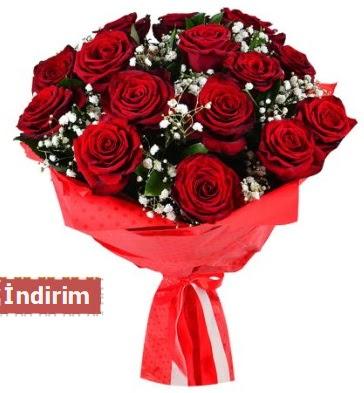 12 Adet kırmızı aşk gülleri  Tunceli yurtiçi ve yurtdışı çiçek siparişi