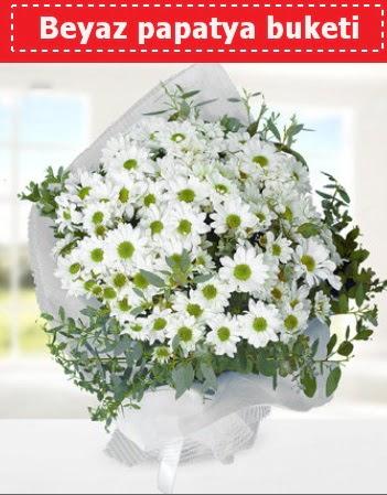 Beyaz Papatya Buketi  Tunceli internetten çiçek satışı