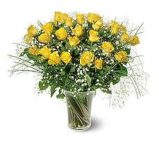 Tunceli çiçek yolla  15 adet sarigül mika yada cam vazoda