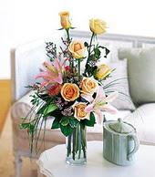 Tunceli online çiçekçi , çiçek siparişi  cam yada mika vazo içerisinde gül kazablanka
