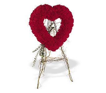 Tunceli çiçek gönderme  karanfillerden kalp pano