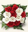 Tunceli online çiçekçi , çiçek siparişi  10 adet kirmizi beyaz güller - anneler günü için ideal seçimdir -
