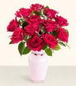 Tunceli İnternetten çiçek siparişi  10 kirmizi gül cam yada mika vazo tanzim