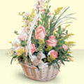Tunceli internetten çiçek satışı  sepette pembe güller