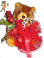 oyuncak ayi ve gül tanzim  Tunceli çiçekçi telefonları