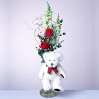 2 adet gül ve panda özel  Tunceli çiçek gönderme sitemiz güvenlidir