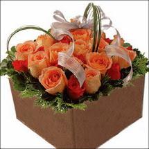 kare sandikta 11 gülllerden   Tunceli çiçek gönderme sitemiz güvenlidir