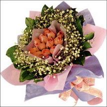 11  adet  gül ve   elyaflar   Tunceli çiçek gönderme sitemiz güvenlidir