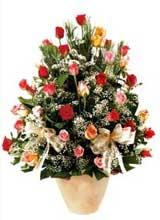 91 adet renkli gül aranjman   Tunceli çiçek servisi , çiçekçi adresleri