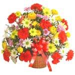 karisik renkli çiçek sepet   Tunceli çiçek servisi , çiçekçi adresleri
