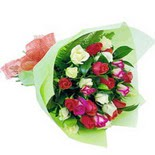 12 adet renkli gül buketi   Tunceli çiçek servisi , çiçekçi adresleri