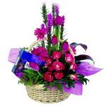 çikolata ve sepette çiçek   Tunceli çiçek servisi , çiçekçi adresleri