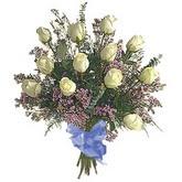 bir düzine beyaz gül buketi   Tunceli çiçek servisi , çiçekçi adresleri