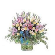 sepette kazablanka ve güller   Tunceli kaliteli taze ve ucuz çiçekler
