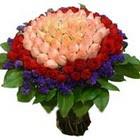 71 adet renkli gül buketi   Tunceli çiçek yolla , çiçek gönder , çiçekçi