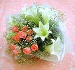 Tunceli çiçek mağazası , çiçekçi adresleri  lilyum ve 7 adet gül buket