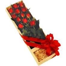 kutuda 12 adet kirmizi gül   Tunceli çiçek mağazası , çiçekçi adresleri