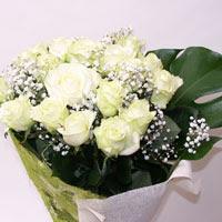 Tunceli İnternetten çiçek siparişi  11 adet sade beyaz gül buketi