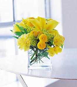 Tunceli çiçek yolla , çiçek gönder , çiçekçi   sarinin sihri cam içinde görsel sade çiçekler