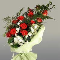 Tunceli çiçek yolla , çiçek gönder , çiçekçi   11 adet kirmizi gül buketi sade haldedir
