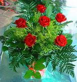 6 adet kirmizi gül buketi   Tunceli ucuz çiçek gönder