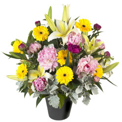 karisik mevsim çiçeklerinden vazo tanzimi  Tunceli çiçek siparişi sitesi