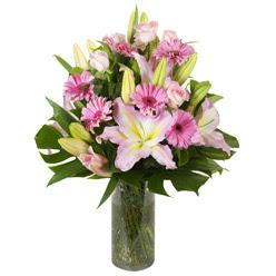 vazo içerisinde karisik mevsim çiçekleri  Tunceli çiçek satışı