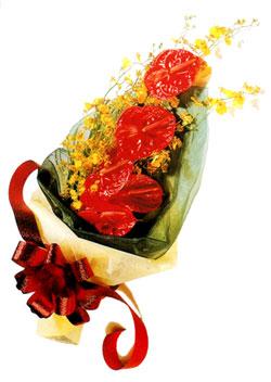 özel 5 adet antorium buketi   Tunceli çiçek servisi , çiçekçi adresleri