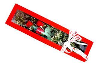 Tunceli İnternetten çiçek siparişi  Kutuda 3 adet gül