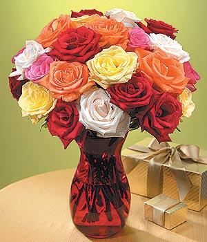 Tunceli çiçekçiler  13 adet renkli gül
