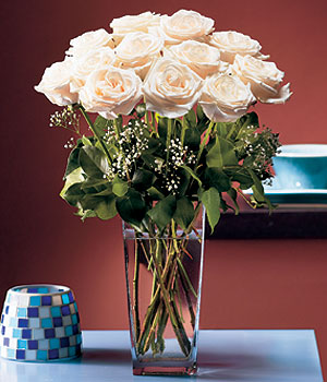 Tunceli internetten çiçek siparişi  Cam yada mika vazo içerisinde 12 gül