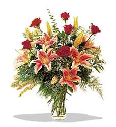 Tunceli online çiçek gönderme sipariş  Pembe Lilyum ve Gül