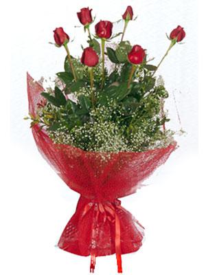 Tunceli online çiçek gönderme sipariş  7 adet gülden buket görsel sik sadelik