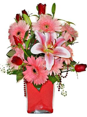 Tunceli hediye çiçek yolla  karisik cam yada mika vazoda mevsim çiçekleri mevsim demeti
