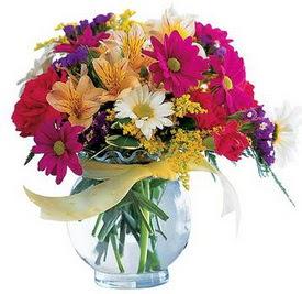 Tunceli çiçek gönderme  cam yada mika içerisinde karisik mevsim çiçekleri