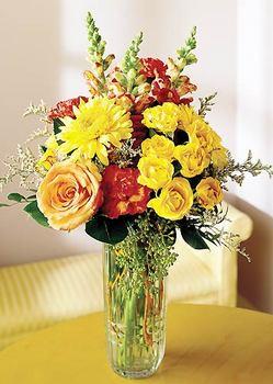 Tunceli internetten çiçek satışı  mika yada cam içerisinde karisik mevsim çiçekleri