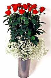 Tunceli hediye çiçek yolla  9 adet kirmizi gül cam yada mika vazoda