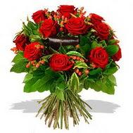 9 adet kirmizi gül ve kir çiçekleri  Tunceli çiçek gönderme