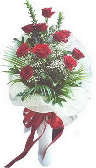 Tunceli İnternetten çiçek siparişi  10 adet kirmizi gülden buket tanzimi özel anlara