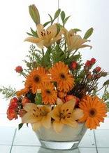 Tunceli online çiçek gönderme sipariş  cam yada mika vazo içinde karisik mevsim çiçekleri