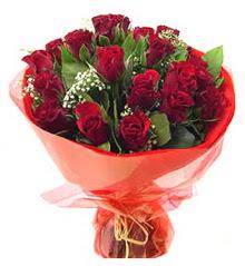 Tunceli çiçekçiler  11 adet kimizi gülün ihtisami buket modeli