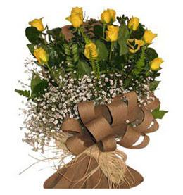 Tunceli çiçek mağazası , çiçekçi adresleri  9 adet sari gül buketi